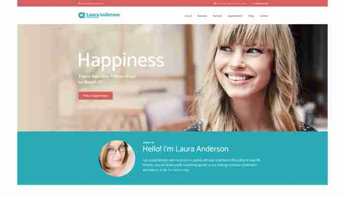 Laura Anderson – Psychologist | Therapy and Counseling Doctor WordPress Theme