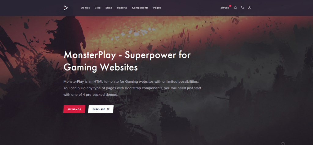MonsterPlay - eSports and Gaming HTML Template