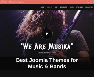 Best Joomla Templates for Music and Bands
