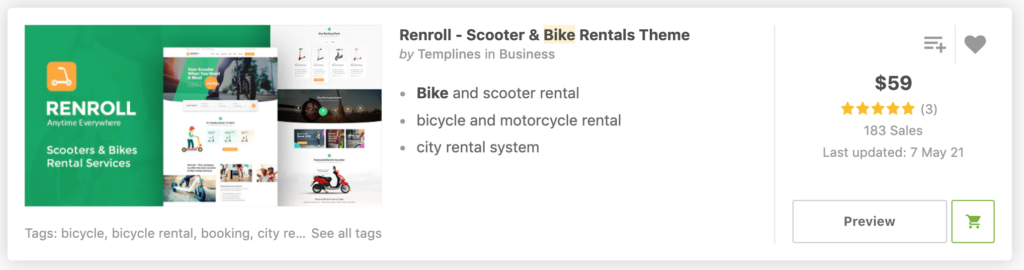 Renroll - Scooter & Bike Rental Theme