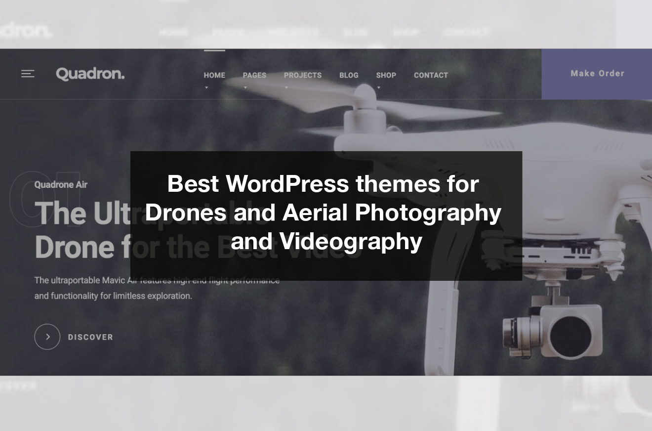 best wordpress themes for drones and aerial photography