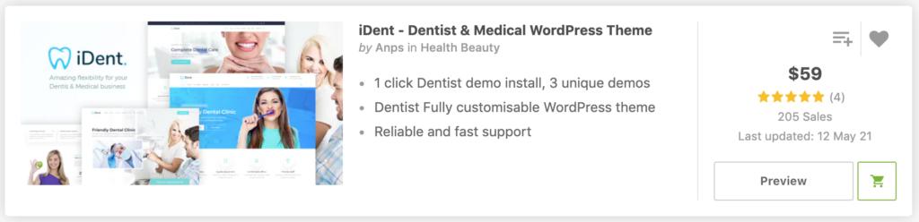 iDent - Dentist & Medical WordPress Theme