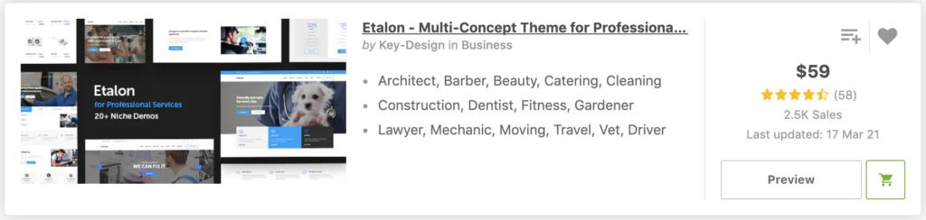"""""""Dentist"""" in Etalon - Multi-Concept Theme for Professionals"""