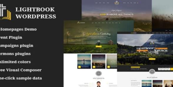 LightBook- Church and Events WordPress Theme