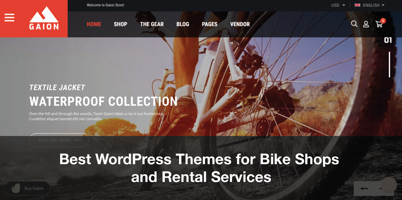 Best WordPress Themes for Bike Shops and Rental Services 2021