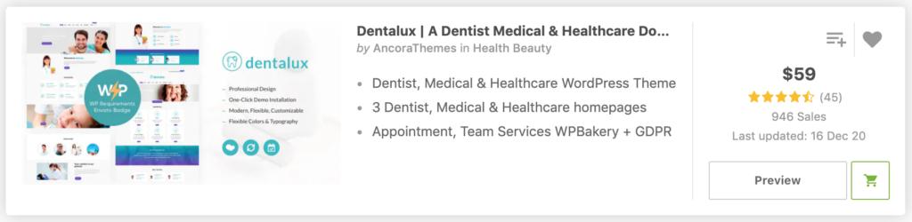 Dentalux | A Dentist Medical & Healthcare Doctor WordPress Theme