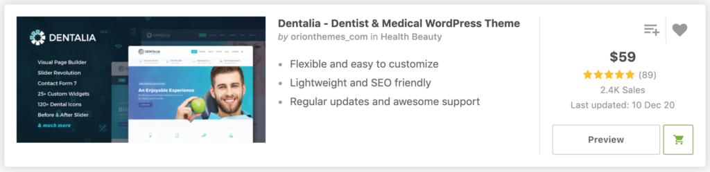 Dentalia - Dentist & Medical WordPress Theme