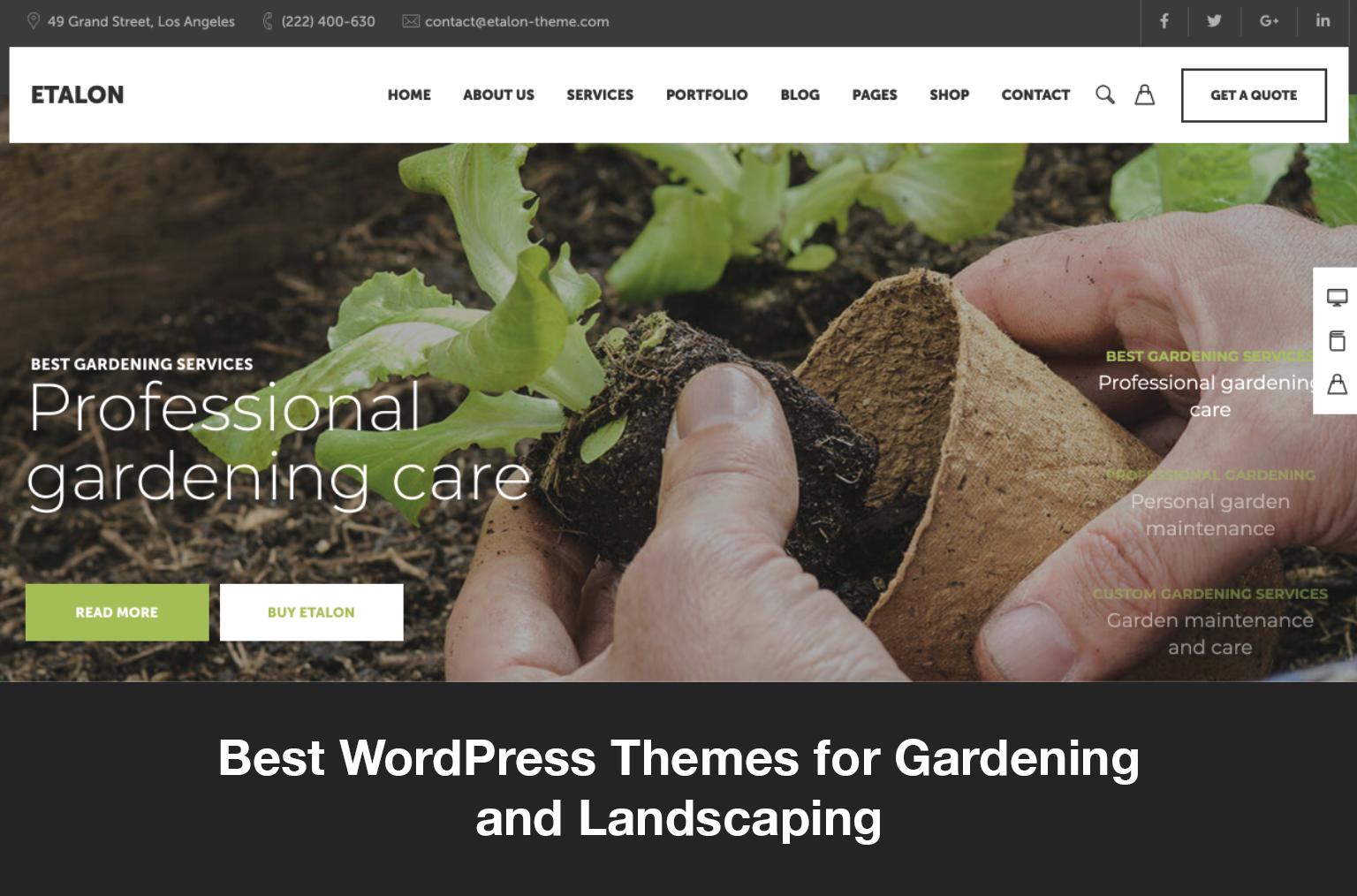 Best WordPress Themes for Gardening & Landscaping