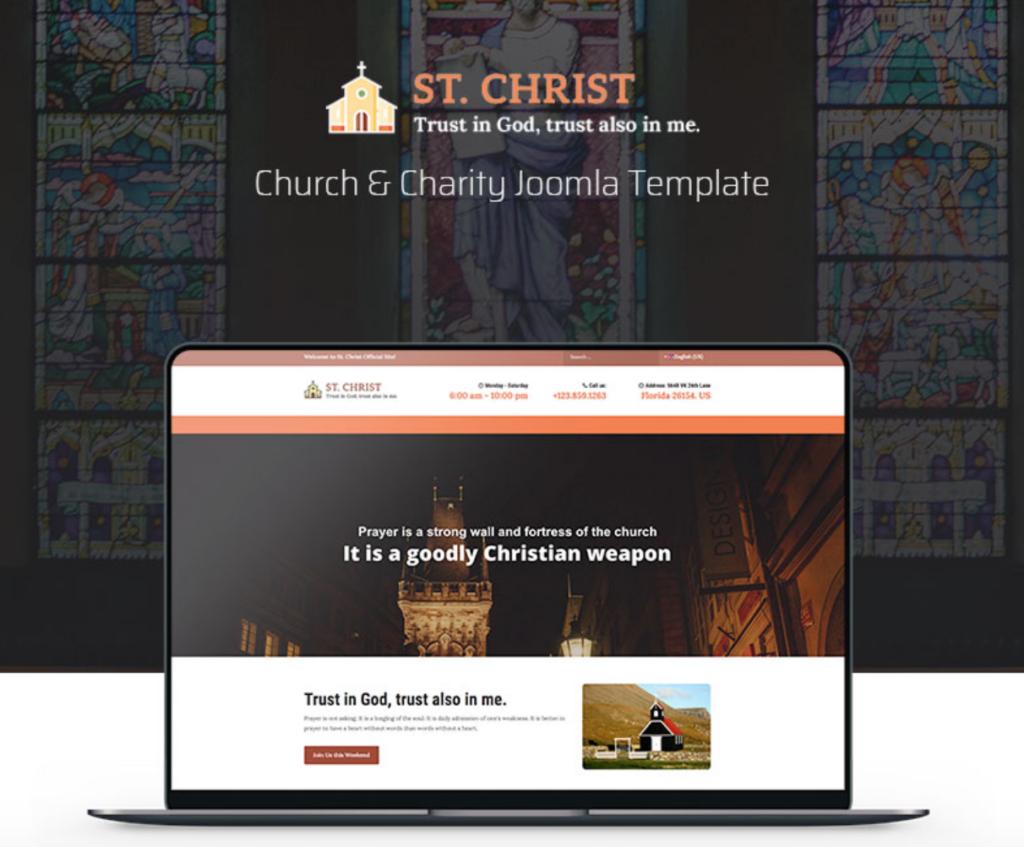 St. Christ - Church & Charity Joomla Template