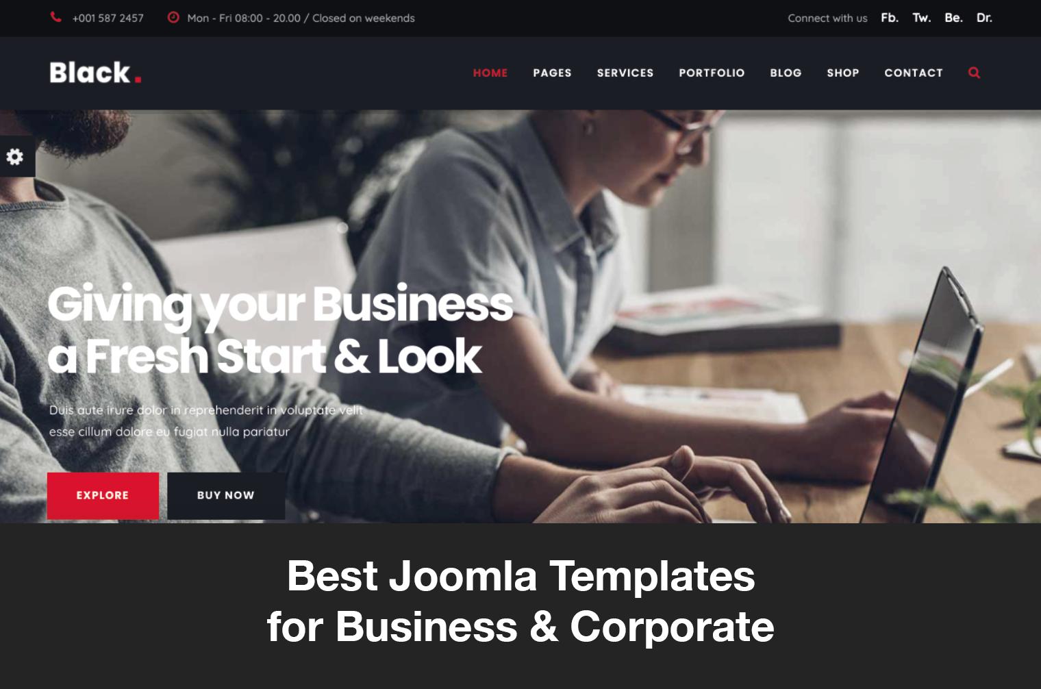 Best Joomla Templates for Business & Corporate