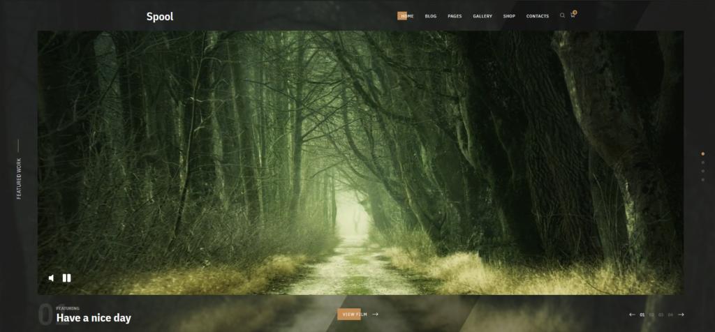 Spool - Movie Studios and Filmmakers WordPress Theme
