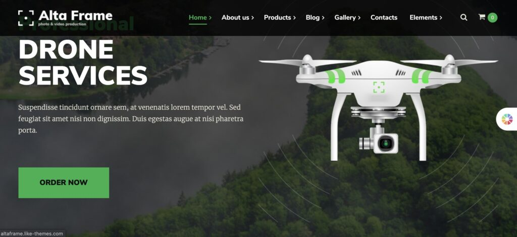 Altaframe - Drone Aerial Videography and Photo School WordPress Theme