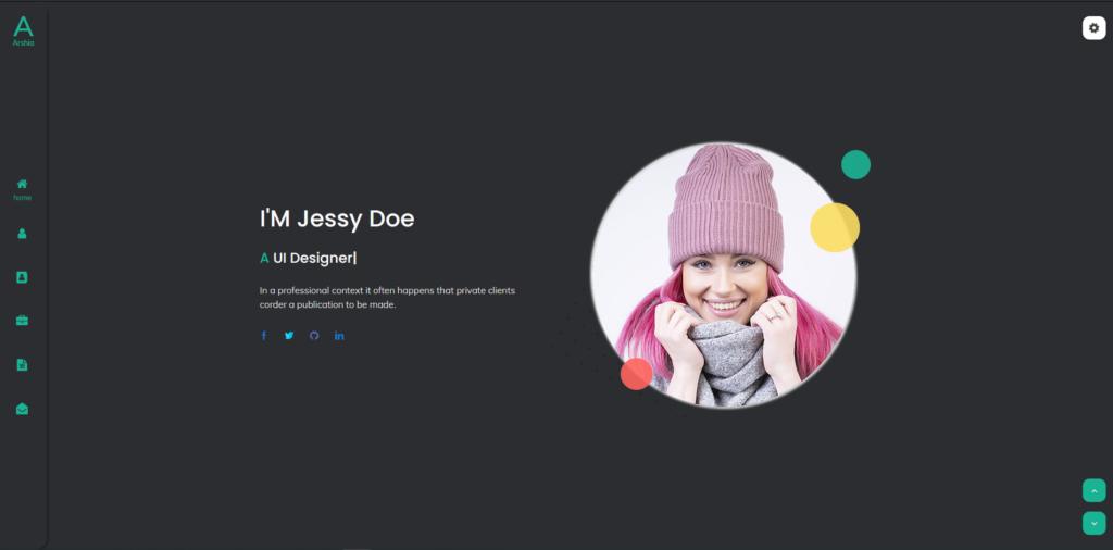Arshia - Bootstrap 4 Personal, portfolio and resume template + RTL