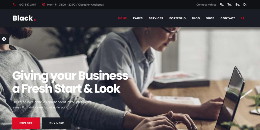 Black - Modern Digital Agency Business Joomla Template