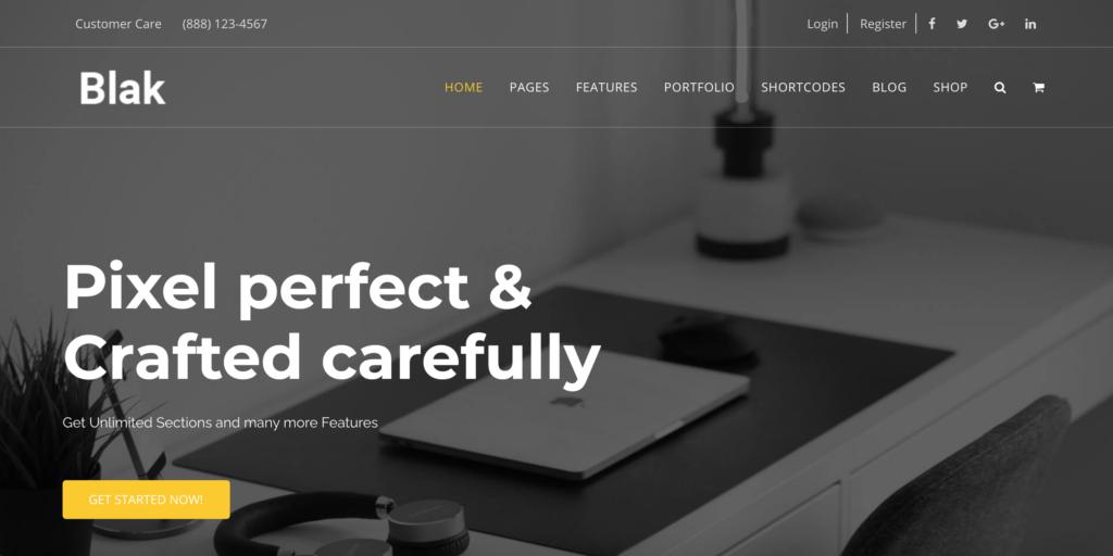 Blak - Responsive MultiPurpose Joomla Website