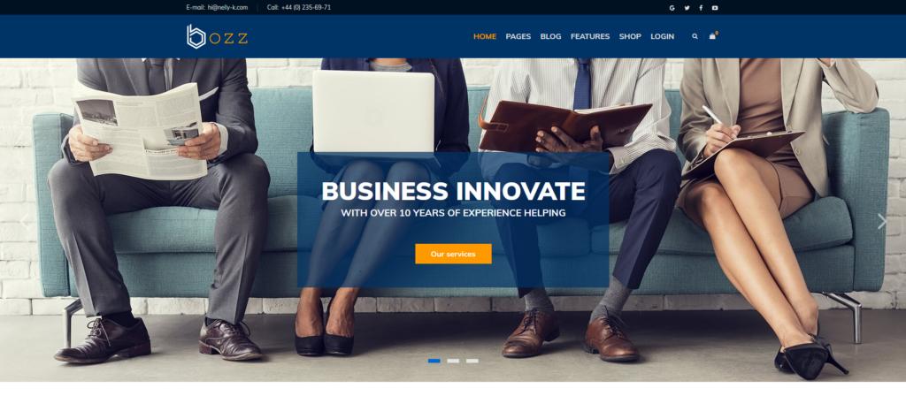Bozz — Corporate and Business Responsive Joomla Template