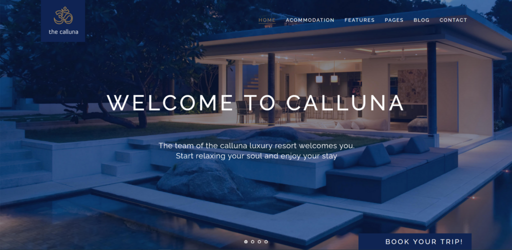 Calluna - Hotel WordPress Theme