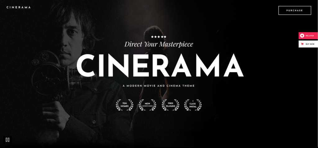 Cinerama - A Theme for Movie Studios and Filmmakers Screenshot