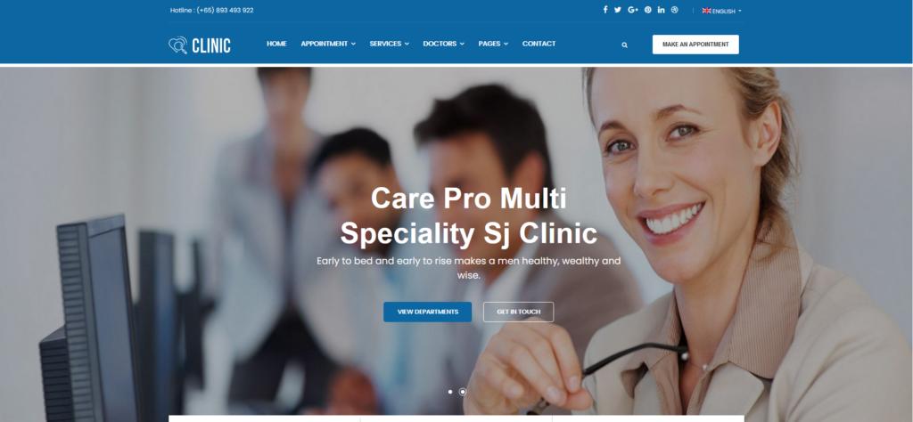 Clinic - Modern Medical & Healthcare Joomla Responsive Template