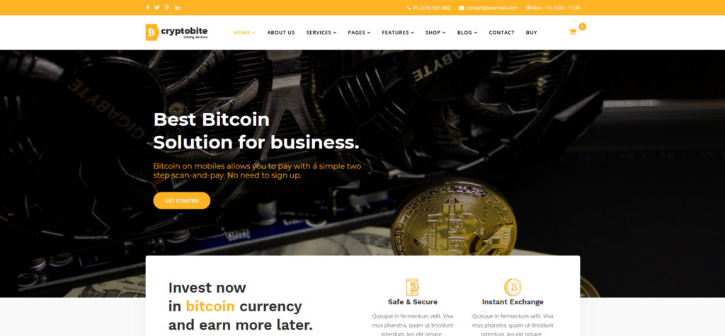 Cryptobite - Cryptocurrency Bitcoin & Digital currency Joomla
