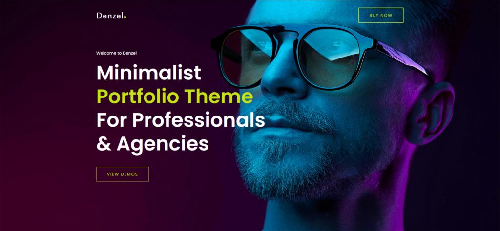 Denzel - Creative Minimal Portfolio WordPress Theme