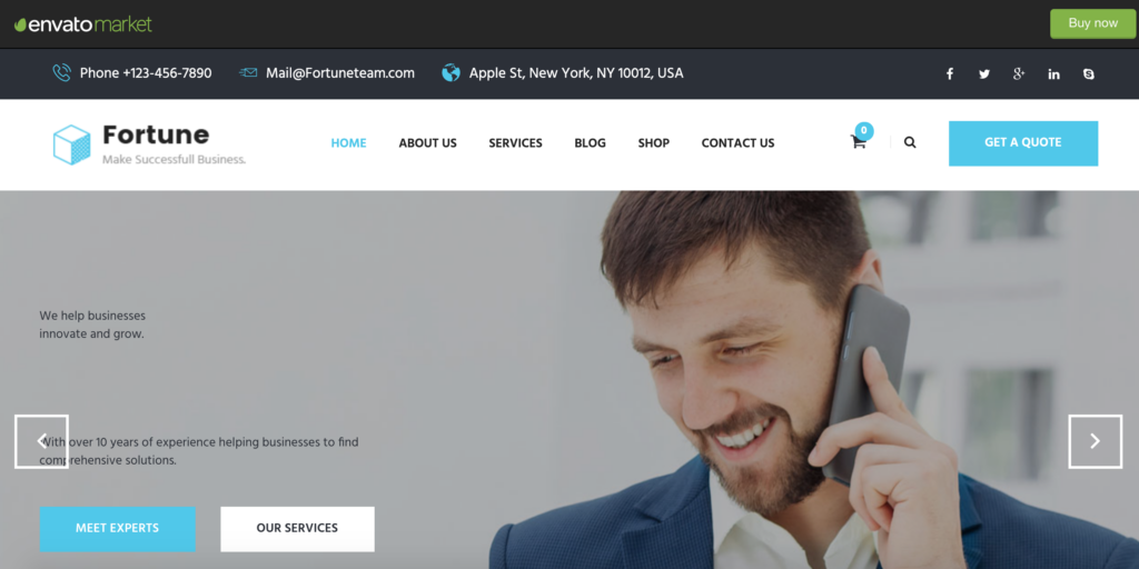 Fortune - Business Consulting and Professional Services Joomla Theme