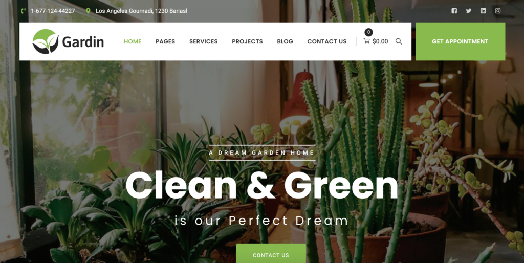 Gardin - Indoor Gardening WordPress Theme