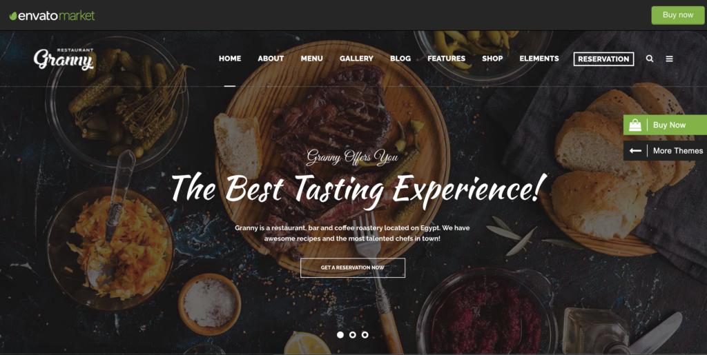 Granny - Elegant Restaurant & Cafe WordPress Theme