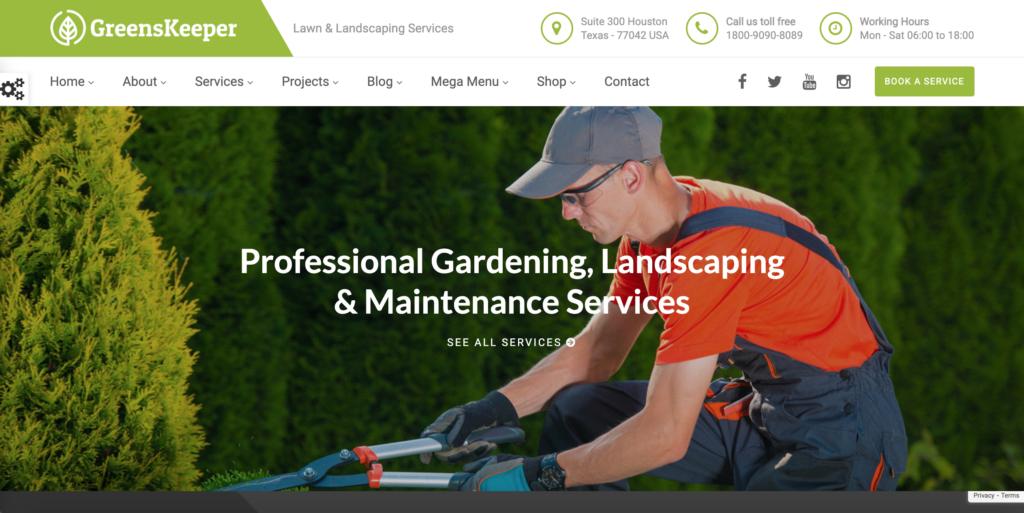 GreensKeeper - Gardening & Landscaping Responsive WordPress Theme