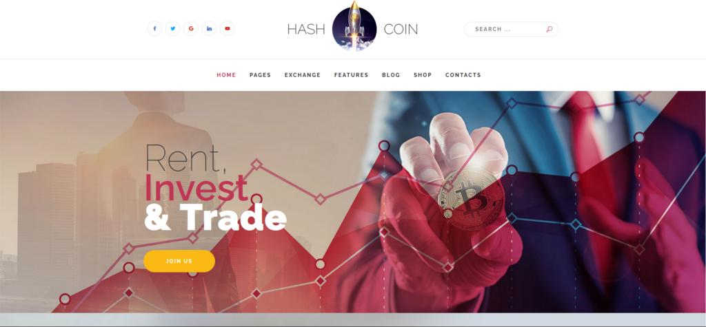 HashCoin Plus - Bitcoin Crypto Currency Joomla Template