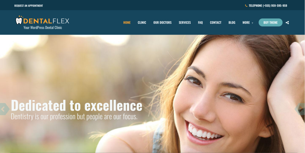 """Dental Clinic"" in HEALTHFLEX - Doctor Medical Clinic & Health WordPress Theme"