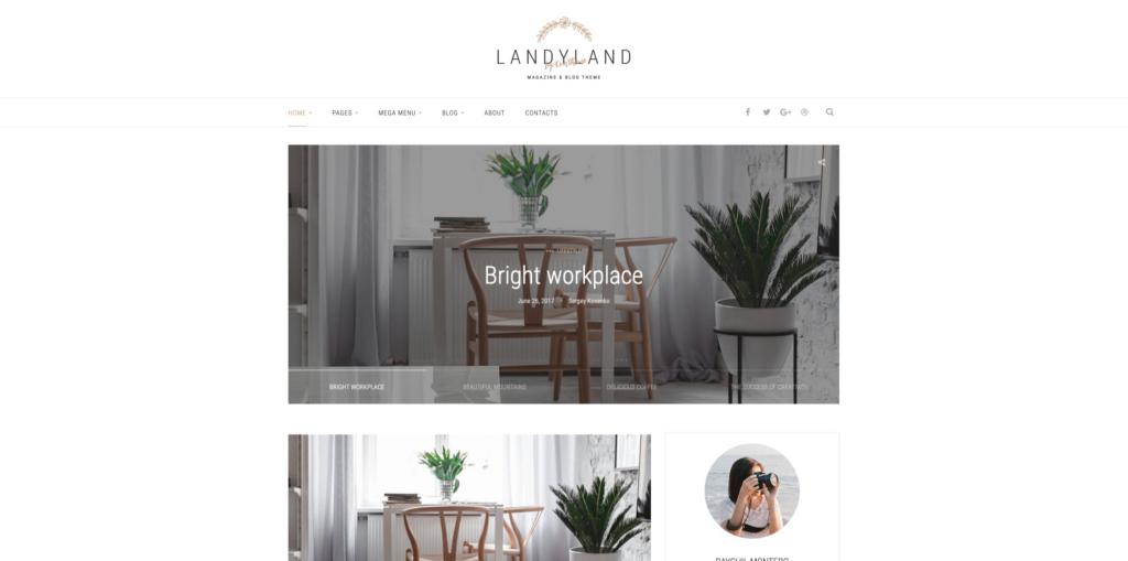Landyland - Clean Blog Theme