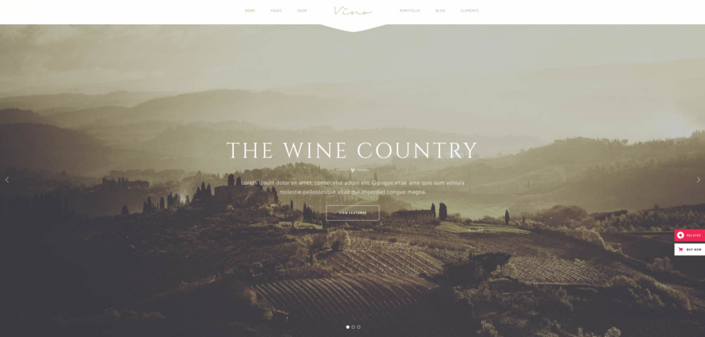 Vino - A Refined Winery, Wine Bar and Vineyard Theme