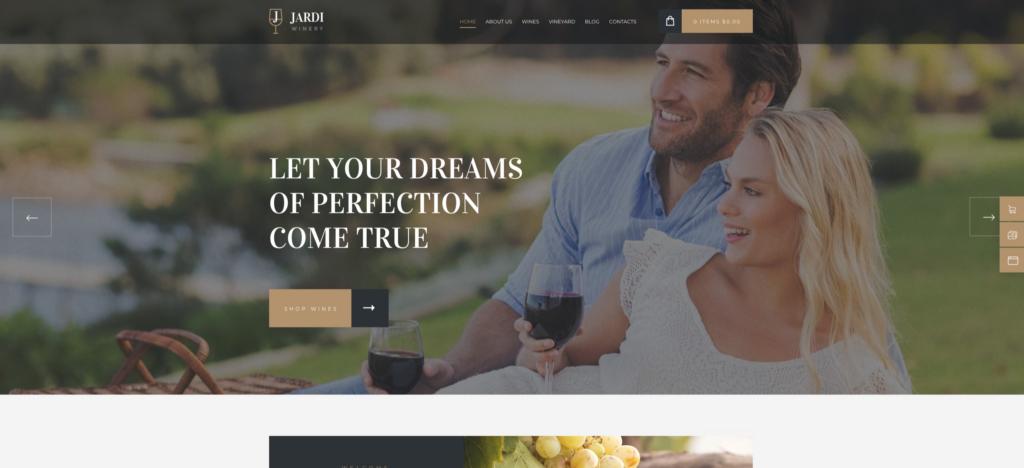 Jardi   Winery, Online Delivery Vineyard & Wine Shop WordPress Theme