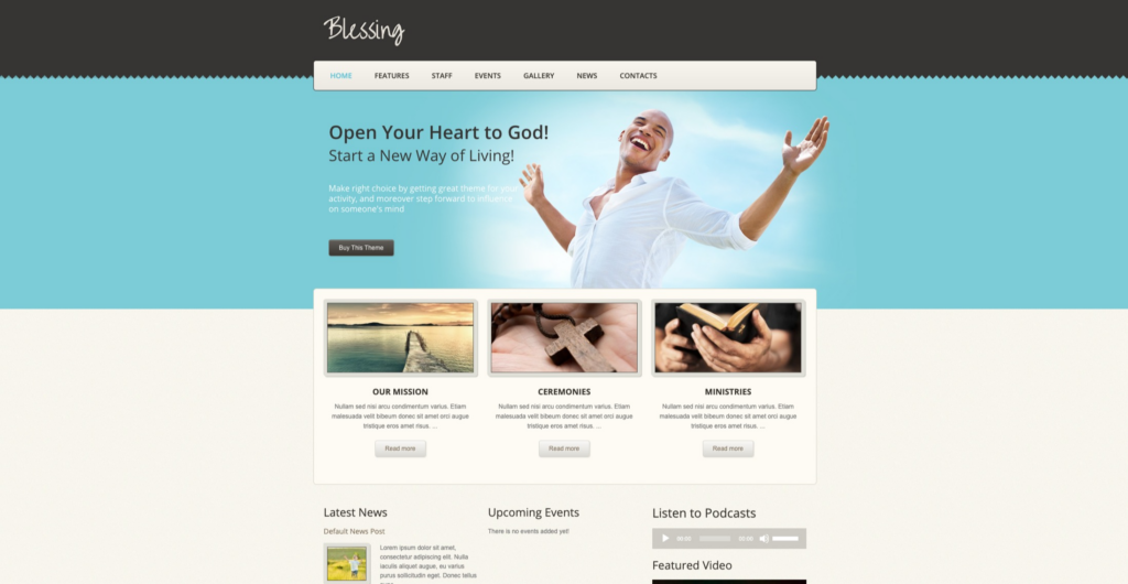 Blessing | WordPress Theme For Churches And Charity Website: