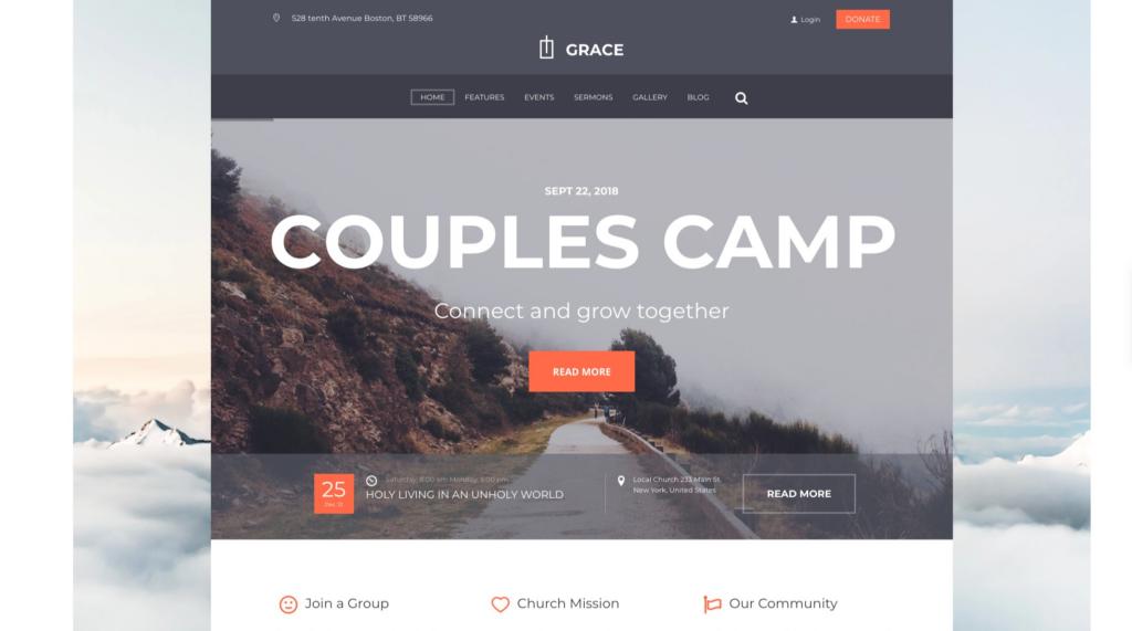 Grace —Church, Religion & Charity Website Theme: