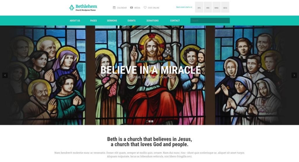 Bethlehem —Church WordPress Theme