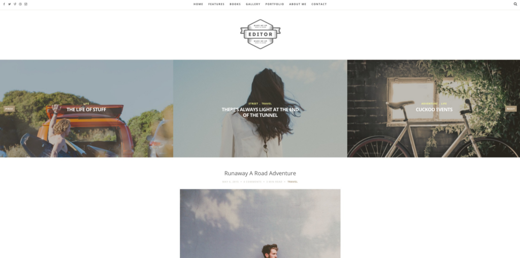 Editor - A WordPress Theme for Bloggers