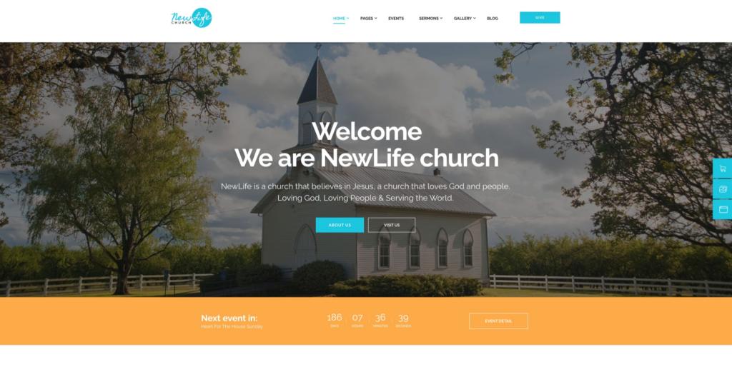 New Life | Church And Religious WordPress Theme