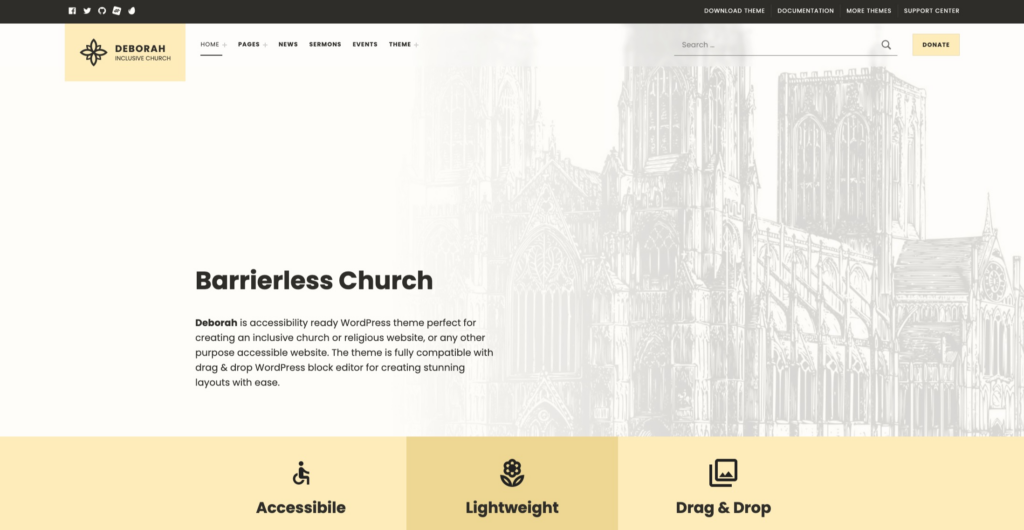 Deborah — Inclusive Church WordPress Theme