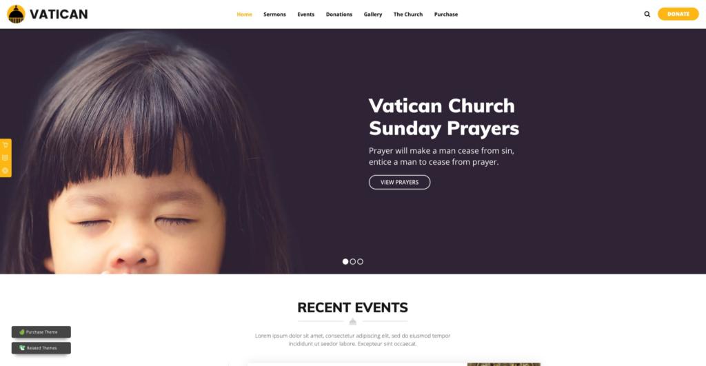 Vatican —Church WordPress Theme