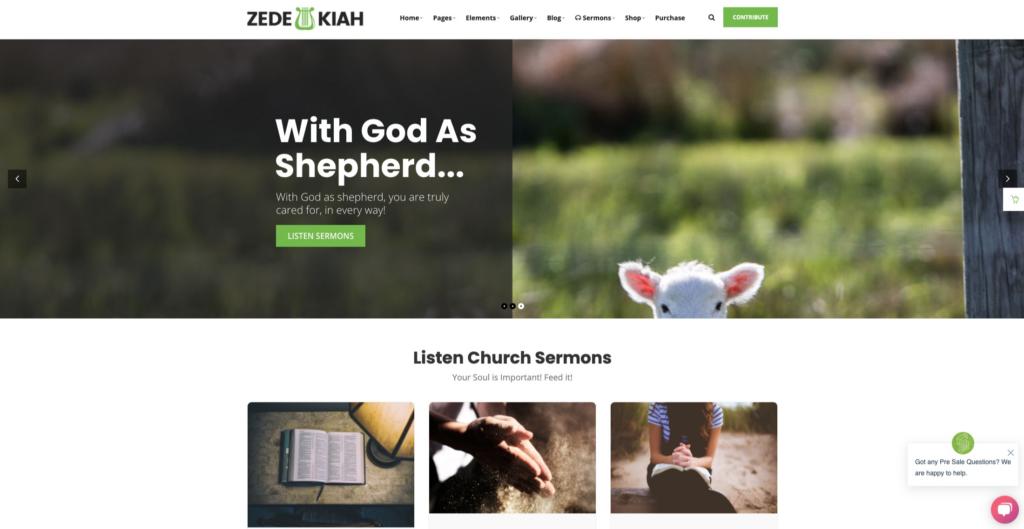 Zedekiah —Multipurpose Church & Religious WordPress