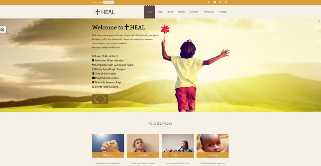 Heal —Minimal Charity WordPress