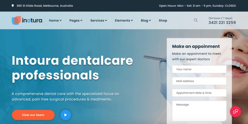"""Dental"" in Inotura - Health & Medical WordPress Theme"