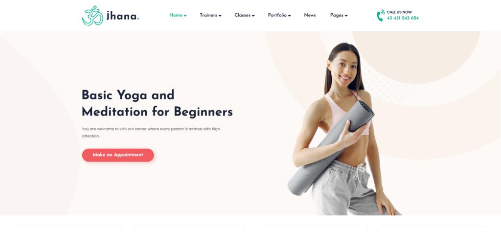Jhana - Yoga WordPress Theme