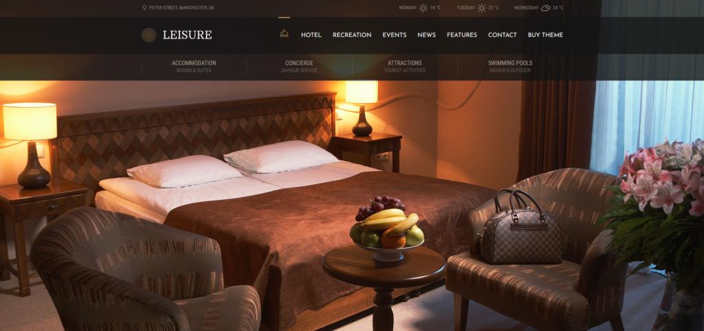 Hotel Leisure WordPress Theme