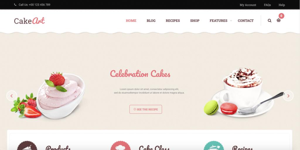 Levain   Cake WordPress Theme