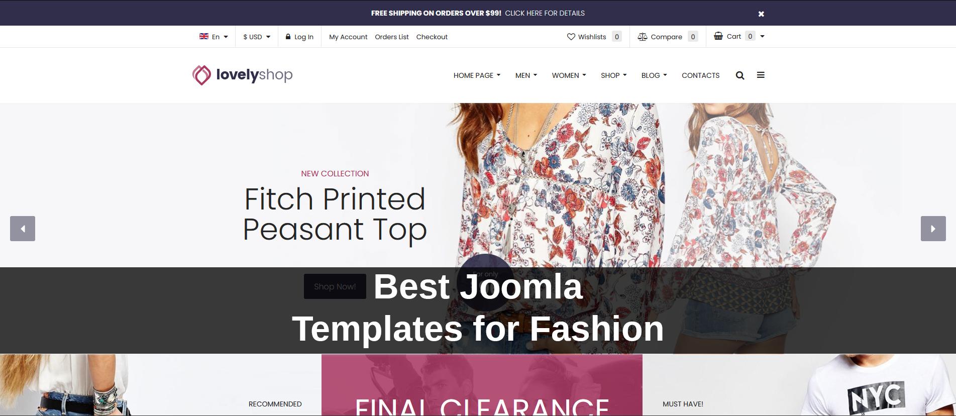 Best Joomla Templates for Fashion