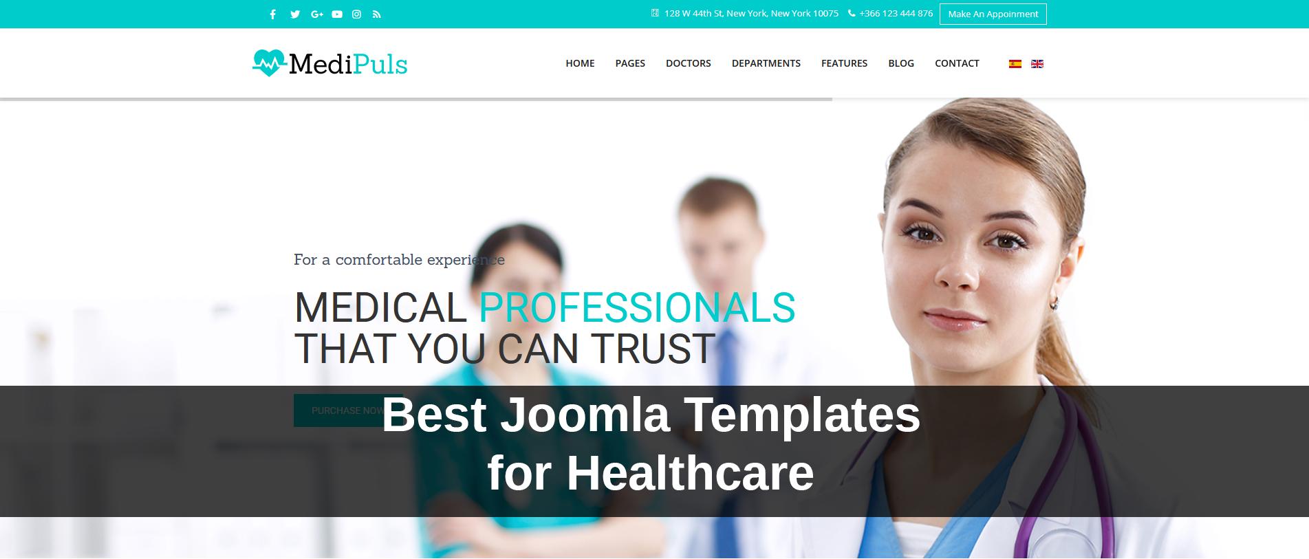 Best Joomla Templates for Healthcare