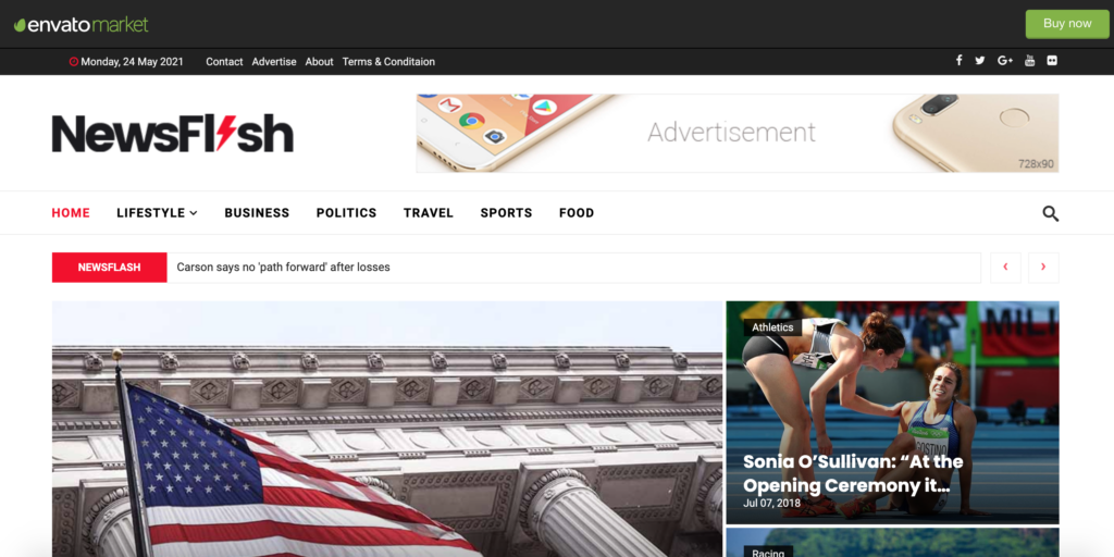NewsFlash - Joomla News & Magazine Template